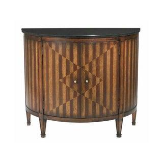 Continental Demilune Cabinet Console Table