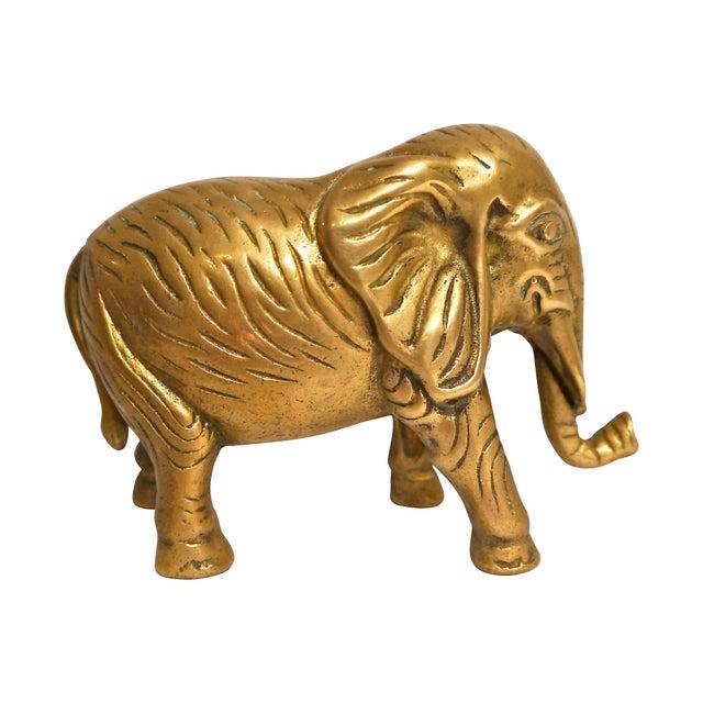 1940s Cast Brass Elephant - Image 3 of 4