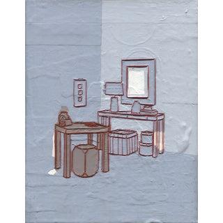 Blue Vanity Room Original Painting