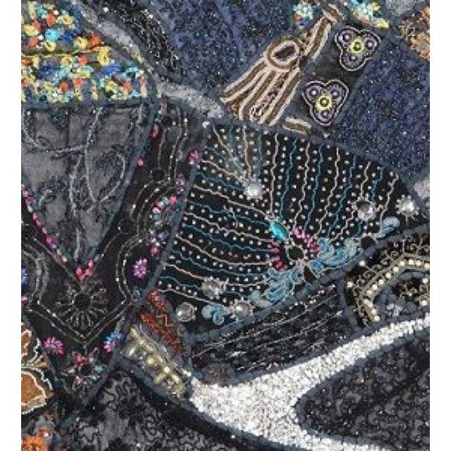 Multi-Purpose Dark Blue Hand-Worked Panel - Image 2 of 2