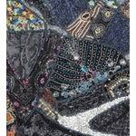 Image of Multi-Purpose Dark Blue Hand-Worked Panel