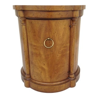 Vintage Regency Style Columned Round End Table