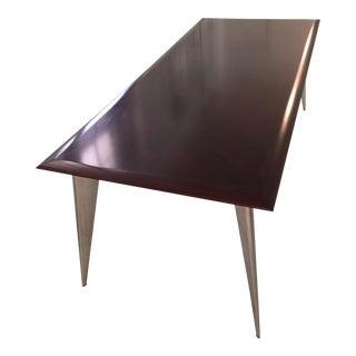 Philippe Starck Mahogany & Aluminum Dining Table