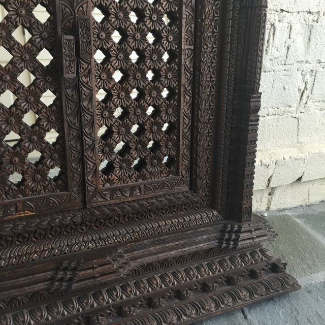 Image of Hand Carved Nepalese Mirror