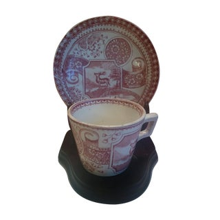 Antique English Red Staffordshire Set - S/3