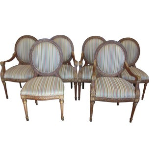 French Louis XVI Dining Chairs - Set of 6