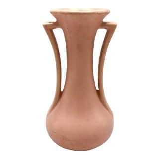 1941 Nelson McCoy Matte Pink Two Handled Amphora Vase
