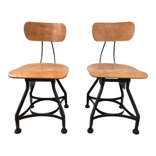 Uhl Steel Wood & Steel Adjustable Desk Chairs