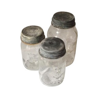 Vintage Mason Jars With Tin Lids - 3