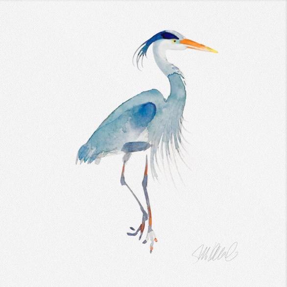 Blue Heron Print - Image 2 of 3