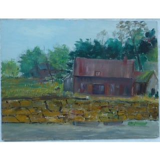 H. L. Musgrave MCM Country Cabin Painting