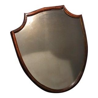 Antique Carved Mahogany Shield Mirror