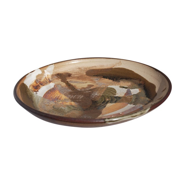 Mid-Century William Wyman Style Pottery Charger - Image 1 of 11