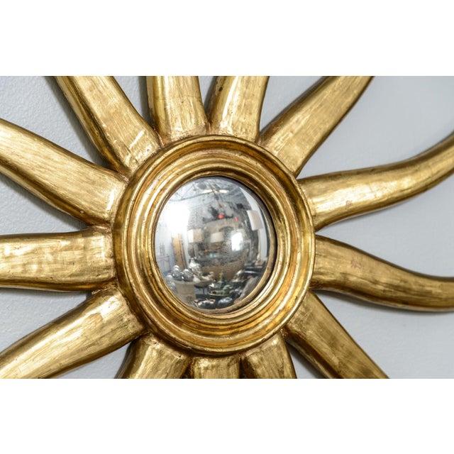 French Giltwood Sunburst Convex Mirror - Image 7 of 10