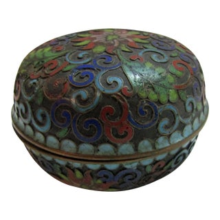Antique Enamel Trinket Box