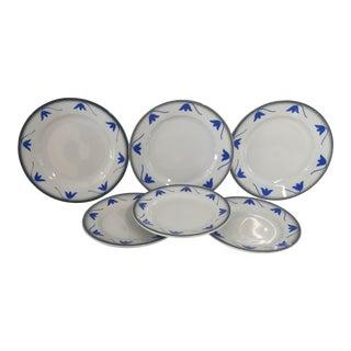 """Italian Ceramic """"Galvani"""" Dessert Lunch Plates - Set of 6"""