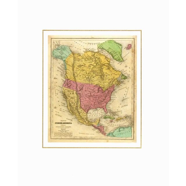 Image of 1844 Vintage America & Texas Republic Map