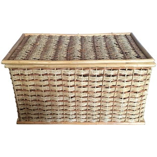 Woven Bamboo and Grass Trunk