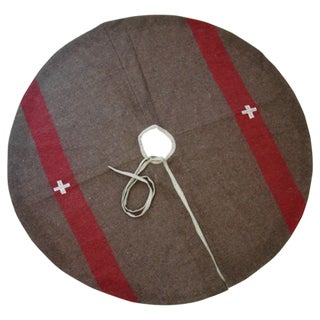 Swiss Custom Tailored Wool Christmas Tree Skirt