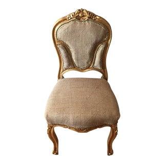 Petite Vanity Gilded Rococo Chair
