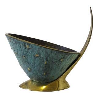 Mid Century Dayagi Israel Brass Decorative Bowl