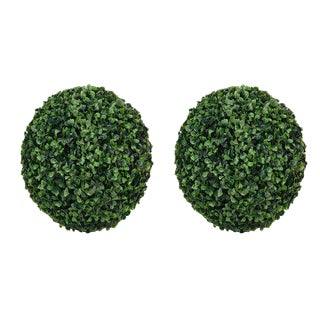 Boxwood Decorative Ball -- A Pair