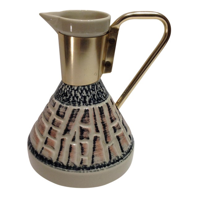 Mid-Century Pottery Pitcher - Image 1 of 7