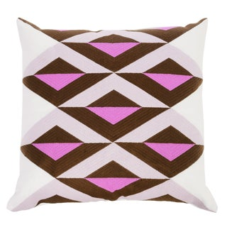 """Piper Collection Pink & White Linen """"Ginny"""" Pillow"""