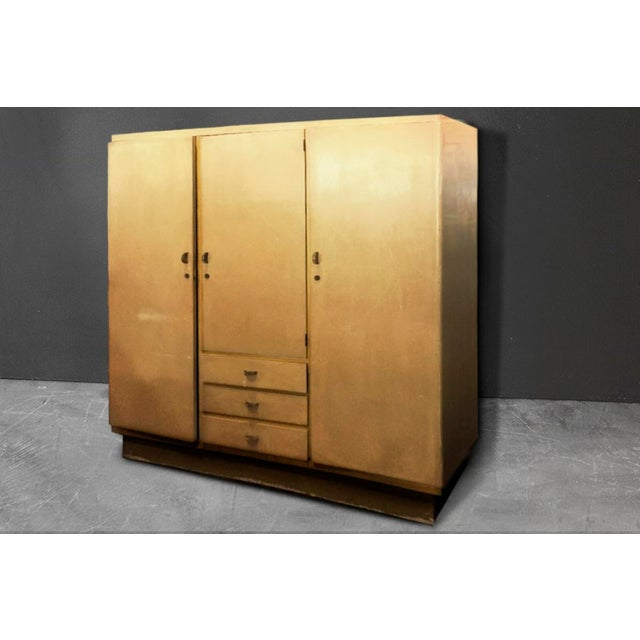 Image of 1930s Vintage Dutch Art Deco Armoire