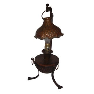 Arts & Crafts Copper Lamp