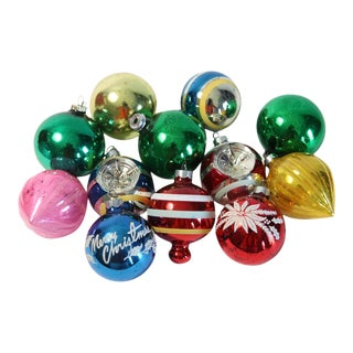 Vintage Glass Ornaments - Set of 12