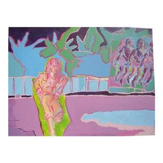 "Danuta Krol ""Nina"" Acrylic Painting"