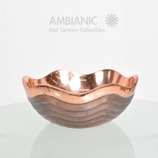 Nambe Copper Bowl by Lisa Smith, Mid-Century Modern Style