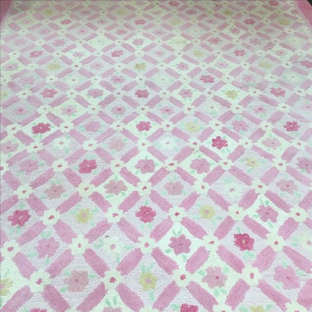 Pottery Barn Kids Pink Trellis Rug - 8′ × 11′