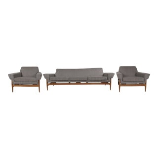 Stunning Mid-Century Sofa and Lounge Chairs by Johannes Andersen for Trensum