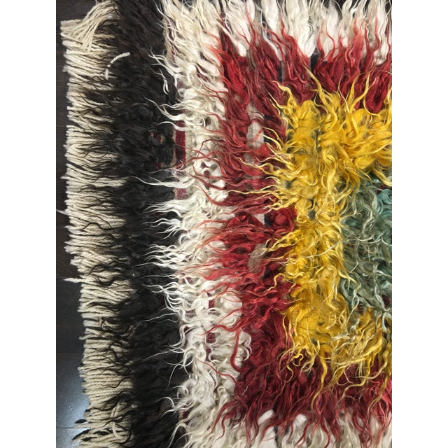 "Bellwether Rugs Vintage Turkish Toloo Kilim Rug - 3'2"" x 4'10 - Image 3 of 6"