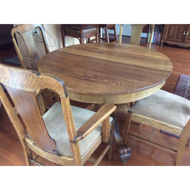 Antique Claw Foot Dining Table 4 Chairs Chairish