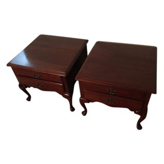 Ethan Allen Cherry Side Tables - Pair