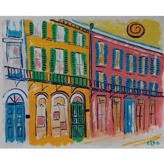 French Quarter Street Cityscape by Cleo