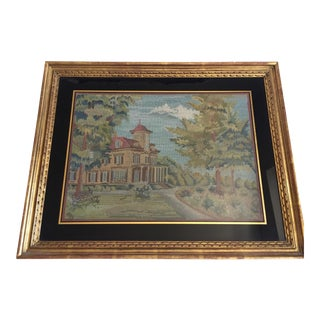 1930's Original Vintage Needlepoint