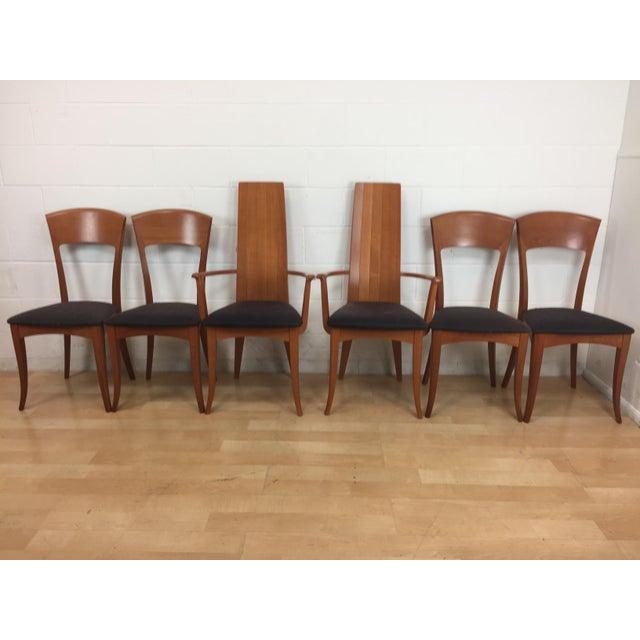 A. Sibau Italian Mid-Century Modern Dining Chairs- Set of 6 - Image 2 of 11