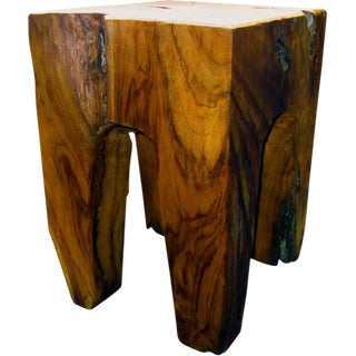 Indonesian Wooden Square Stool