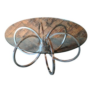 Vintage Chrome Ring Coffee Table