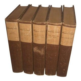 Sir Walter Scott Books for Waverly Novels - Set of 5