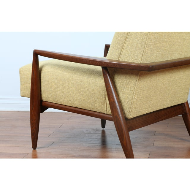 Mid-Century Ecru Lounge Chairs - A Pair - Image 8 of 11