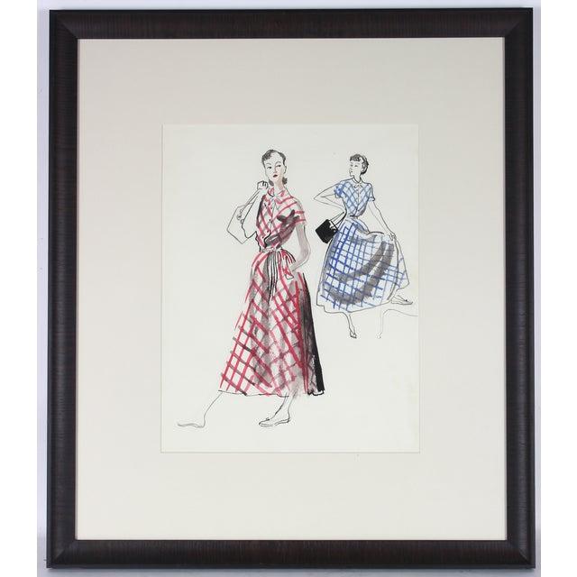 Mid Century Fashion Illustration - Image 2 of 3