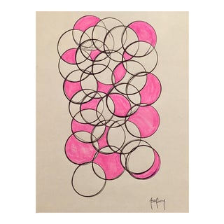 Modern Geometric Ink Drawing by Tony Curry