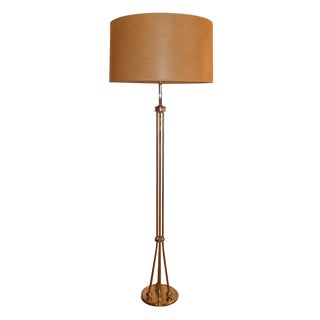 Brass Tripod Floor Lamp