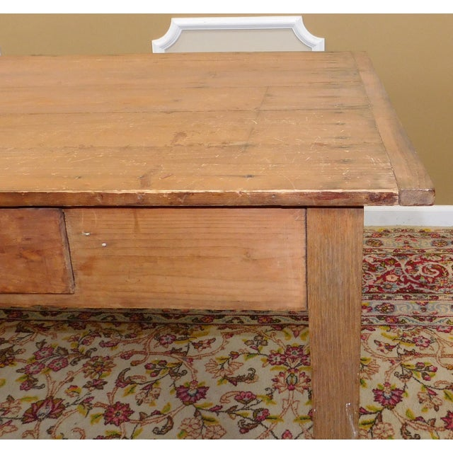 primitive rustic pine dining room table chairish