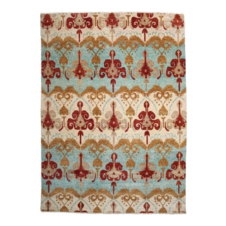 "Ikat Hand Knotted Area Rug - 9'2"" X 12'4"""